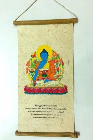 "Inspirational Scroll – print of ""Bhaisajya (Medicine) Buddha""."