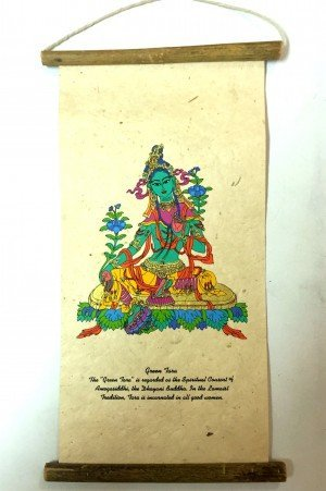 "Inspirational Scroll – print of ""The Green Tara""."