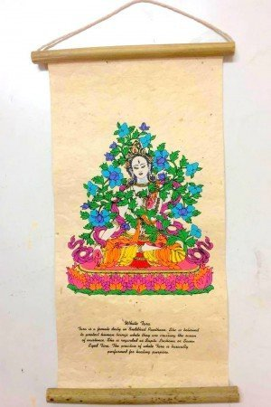 "Inspirational Scroll – print of ""The White Tara""."
