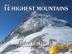 All 14 Highest Mountains Wall Calendar 2020 (2.255)