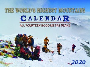 All 14 Highest Mountains Wall Calendar 2020 (2.272)