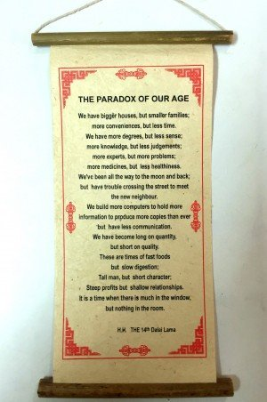 "Inspirational Scroll – ""The Paradox of our Age"""