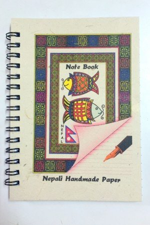 "Small Handmade Notebook – ""Mithila Art"""