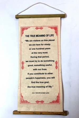 "Inspirational Scroll – ""The True Meaning of Life"""