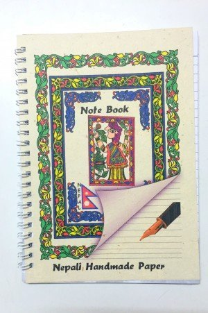 "Handmade Notebook – ""Mithila Art (man)"""