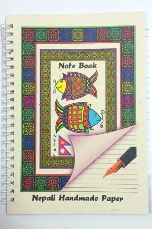 "Handmade Notebook – ""Mithila Art"""