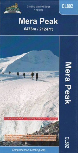 Climbing Map Mera Peak CL802