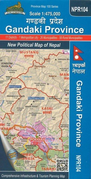 Gandaki Province: New Political Map of Nepal NPR104