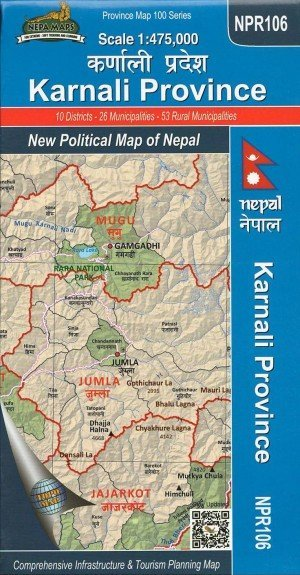 Karnali Province: New Political Map of Nepal NPR106