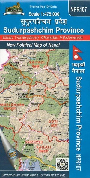 Sudurpashchim Province: New Political Map of Nepal NPR107