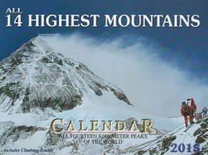 All 14 Highest Mountains Wall Calendar 2018