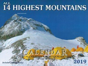 All 14 Highest Mountains Wall Calendar 2019 (0.978)