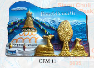 "Ceramic Fridge Magnet: ""Bouddhanath"" (CFM11)"