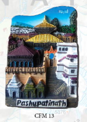 "Ceramic Fridge Magnet: ""Pashupatinath"" (CFM13)"