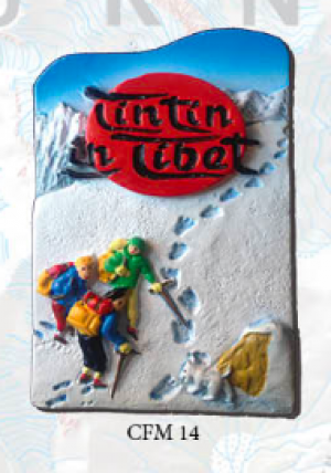 "Ceramic Fridge Magnet: ""Tin Tin in Tibet"" (CFM14)"
