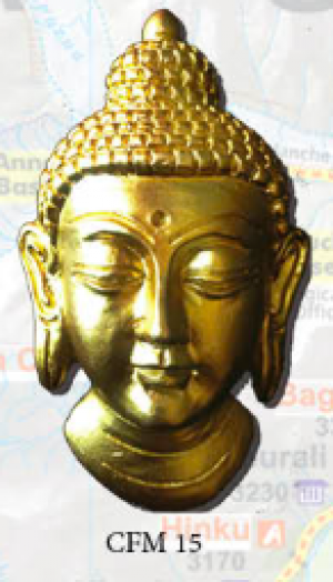 "Ceramic Fridge Magnet: ""Buddha 1"" (CFM15)"