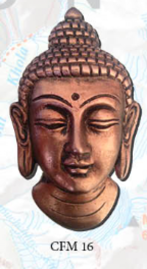 "Ceramic Fridge Magnet: ""Buddha 2"" (CFM16)"