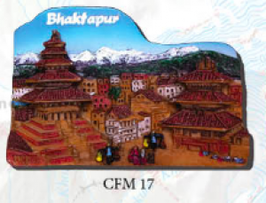 "Ceramic Fridge Magnet: ""Bhaktapur"" (CFM17)"