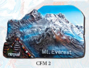 "Ceramic Fridge Magnet: ""Mount Everest 2"" (CFM2)"