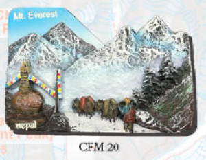 "Ceramic Fridge Magnet: ""Mount Everest 4"" (CFM20)"