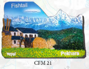 "Ceramic Fridge Magnet: ""Fishtail"" (CFM21)"
