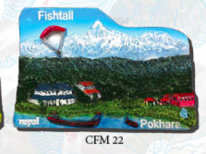 "Ceramic Fridge Magnet: ""Fishtail 2"" (CFM22)"