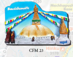 "Ceramic Fridge Magnet: ""Bouddhanath 2"" (CFM23)"