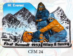 "Ceramic Fridge Magnet: ""Mt. Everest - First Summit"" (CFM24)"