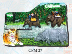 "Ceramic Fridge Magnet: ""Chitwan"" (CFM27)"