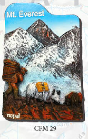 "Ceramic Fridge Magnet: ""Mount Everest 5"" (CFM29)"