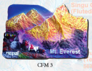 "Ceramic Fridge Magnet: ""Mount Everest 3"" (CFM3)"