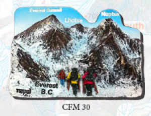 "Ceramic Fridge Magnet: ""Everest B.C"" (CFM30)"