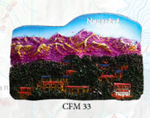 "Ceramic Fridge Magnet: ""Nagarkot"" (CFM33)"