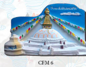 "Ceramic Fridge Magnet: ""Bouddhanath"" (CFM6)"