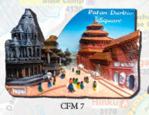 "Ceramic Fridge Magnet: ""Patan Durbar Square"" (CFM7)"