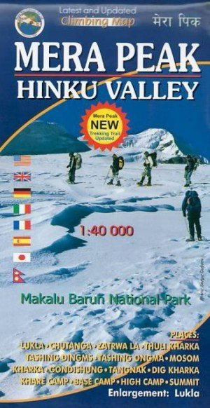 Climbing Map Mera Peak Hinku Valley