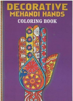 Decorative Mehandi Hands Coloring Book