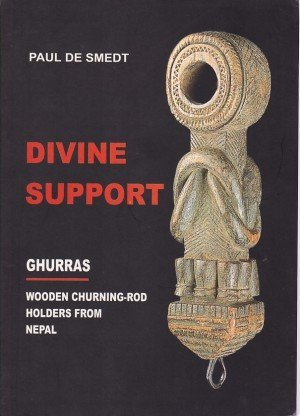 Divine Support Ghurras Wooden Churning-Rod Holders from Nepal