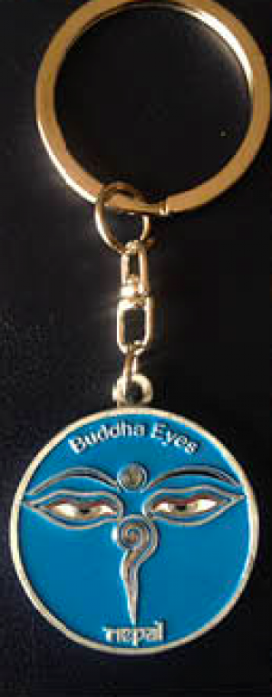 "Keychain - ""Blue Eye of the Buddha"""