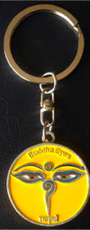 "Keychain - ""Yellow Eye of the Buddha"""