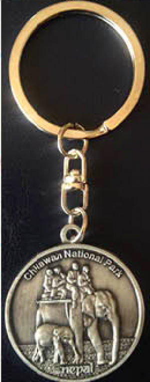 "Keychain - ""Chitwan National Park"""
