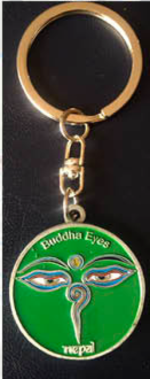 "Keychain - ""Green Eye of the Buddha"""