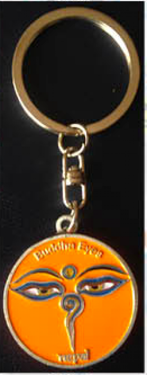 "Keychain - ""Orange Eye of the Buddha"""