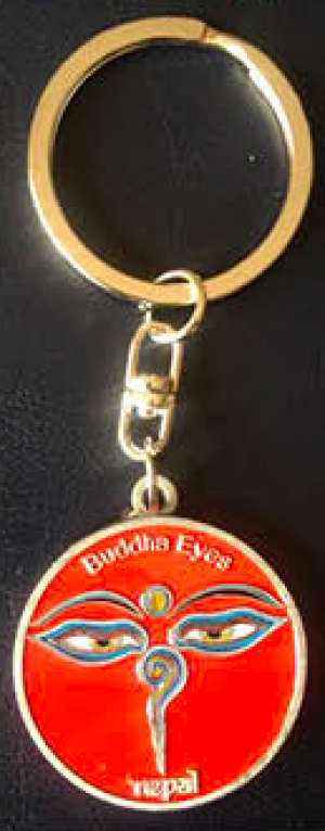 "Keychain - ""Red Eye of the Buddha"""