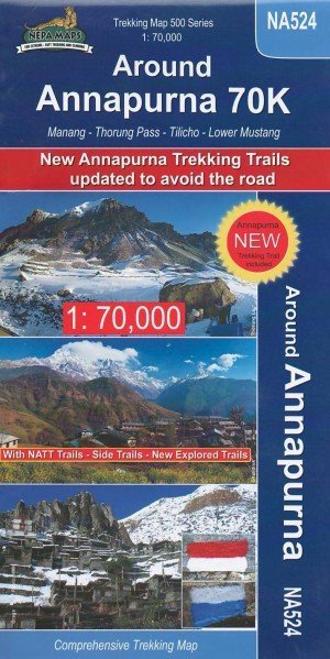 Trekking Map Around Annapurna 70K (NA524)
