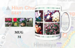 "Souvenir Mug - ""Flowers of Nepal 2"""