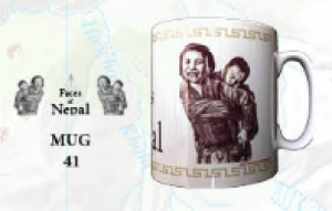 "Souvenir Mug - ""Faces of Nepal"""