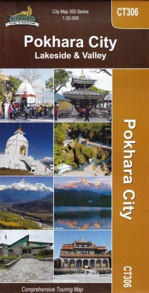 Pokhara City Lakeside & Valley City Map CT306