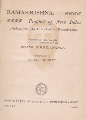 Ramkrishna: Prophet of New India