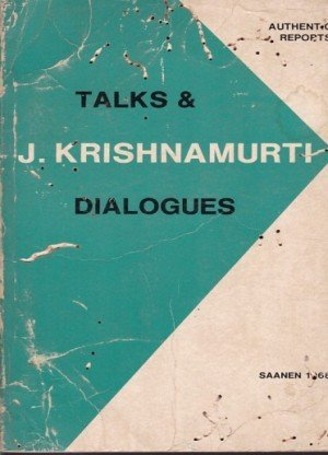 Talks and Dialogues Saanen 1968